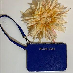 Michael Kors Royal Blue Coin/Card Wristlet